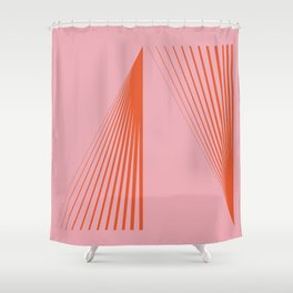 LINES001 Shower Curtain