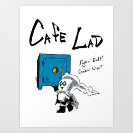 Cafe Lad Art Print