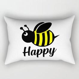 Bee happy feel good Design Rectangular Pillow