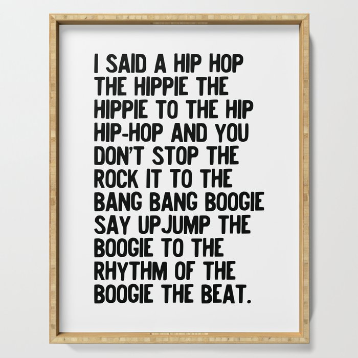RAPPERS DELIGHT Hip Hop CLASSIC MUSIC Serving Tray