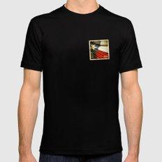 Grunge sticker of Texas (USA) flag Black Mens Fitted Tee MEDIUM