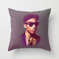hip hop Throw Pillows featuring Hip hop poly by Breno Bitencourt