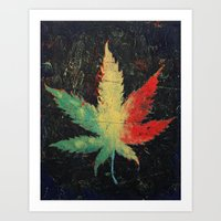 marijuana Art Prints featuring Marijuana by Michael Creese