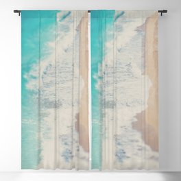looking down on the Adriatic Sea ... aerial beach photograph Blackout Curtain