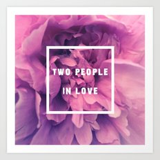 Two People In Love Art Print