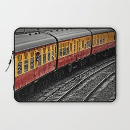Waiting For A Train Laptop Sleeve