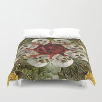 western Duvet Covers featuring WESTERN SKULLS by Gloria Sanchez Artist