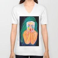 artpop V-neck T-shirts featuring ARTPOP by KALEEMXWILL ART