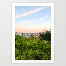 Sunset in San Diego Art Print