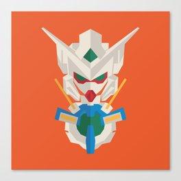 gundam exia flat design Canvas Print