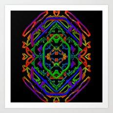 Neon Doodle Art Print