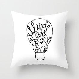 Mind at Work Throw Pillow