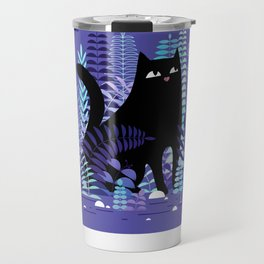 The Ferns (Black Cat Version) Travel Mug