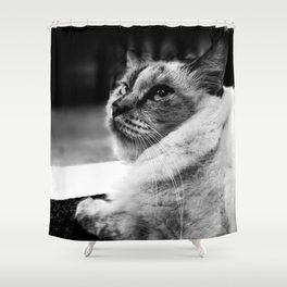 leave me alone:) Shower Curtain
