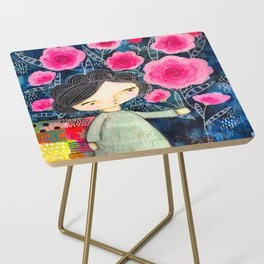Quilted Princess Side Table