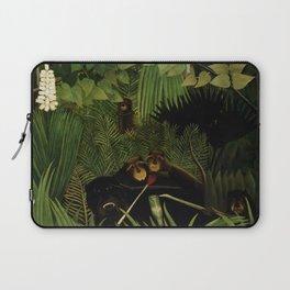 """Henri Rousseau """"Merry jesters"""", 1910 Laptop Sleeve"""