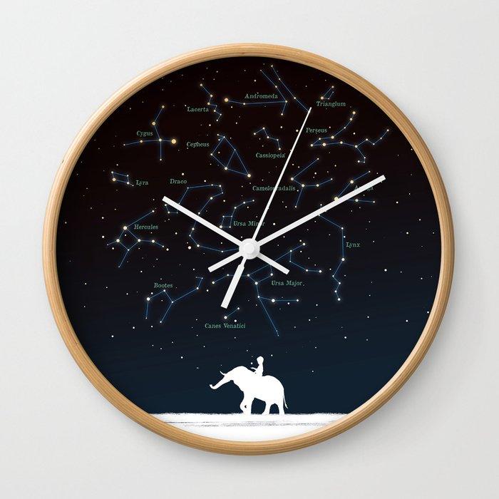 Falling star constellation Wall Clock