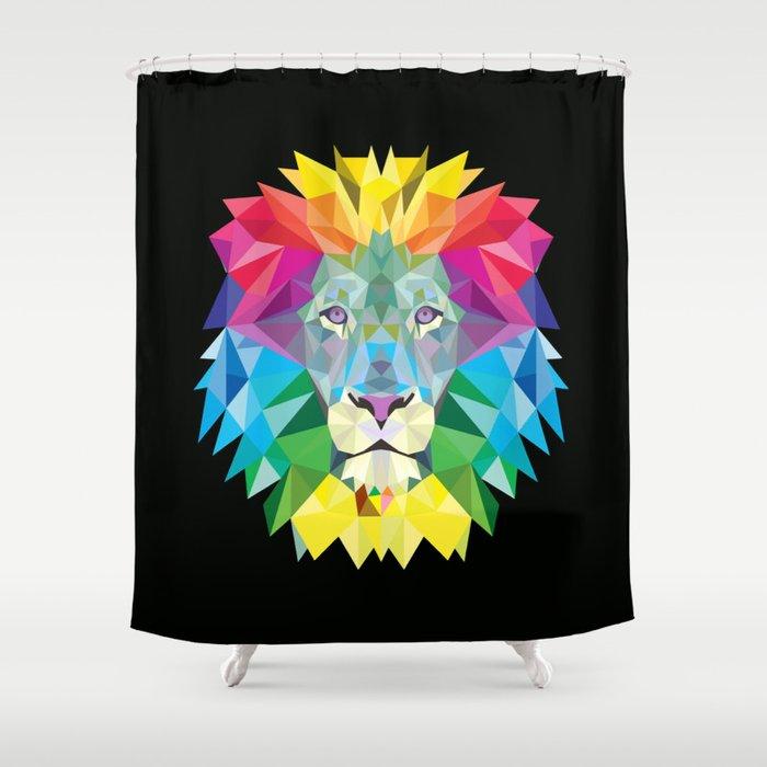 High Color Lion Shower Curtain