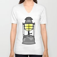 lantern V-neck T-shirts featuring Lantern by mailboxdisco