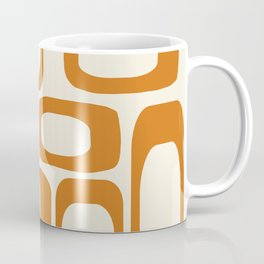 Mid Century Modern Shapes 1970s Orange #society6 #buyart  Coffee Mug