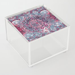 Vintage Boho Burgundy Mandala Acrylic Box