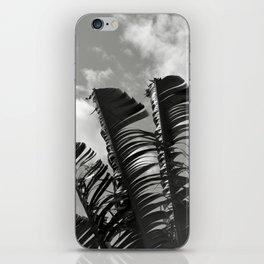 banana leaves, black and white iPhone Skin