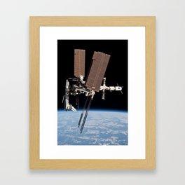 Endeavour docked to ISS Framed Art Print