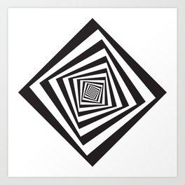 -5º / 85% downscale Rotating square Art Print