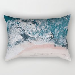 I love the sea - written on the beach Rectangular Pillow