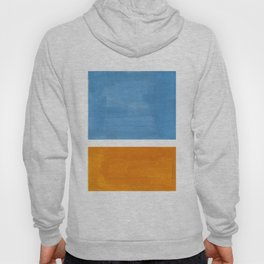 Rothko Minimalist Abstract Mid Century Color Black Square Periwinkle Yellow Ochre Hoody