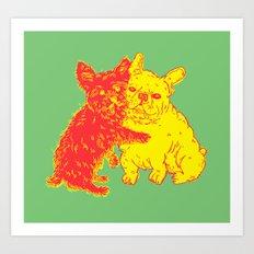 <3 Doggies Art Print