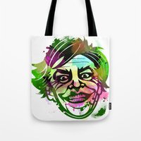 the joker Tote Bags featuring JoKER by BIG Colours