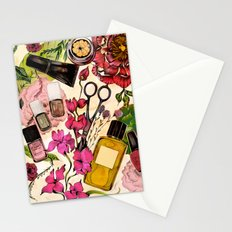 Nail polish and peonies Stationery Cards