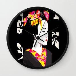 Geisha Dots Wall Clock