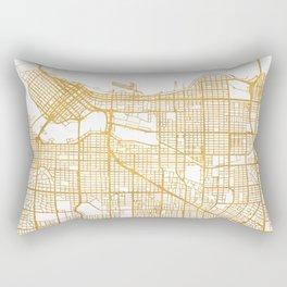 VANCOUVER CANADA CITY STREET MAP ART Rectangular Pillow