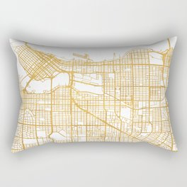 VANCOUVER CANADA CITY STREET MAP ART Rectangular Pillow