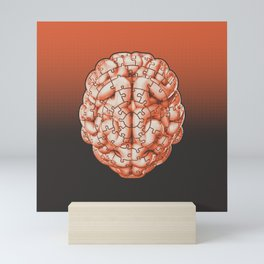 Puzzle brain GINGER / Your brain on puzzles Mini Art Print