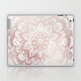 Rose Gold Mandala Star Laptop & iPad Skin