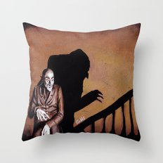 Nosferatu - A Symphony of HORROR! Throw Pillow