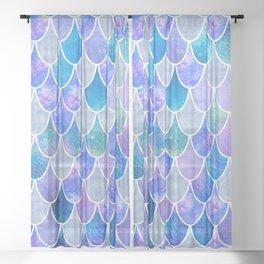 mermaid scales #5 Sheer Curtain