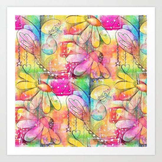 Flowers Dreams Art Print