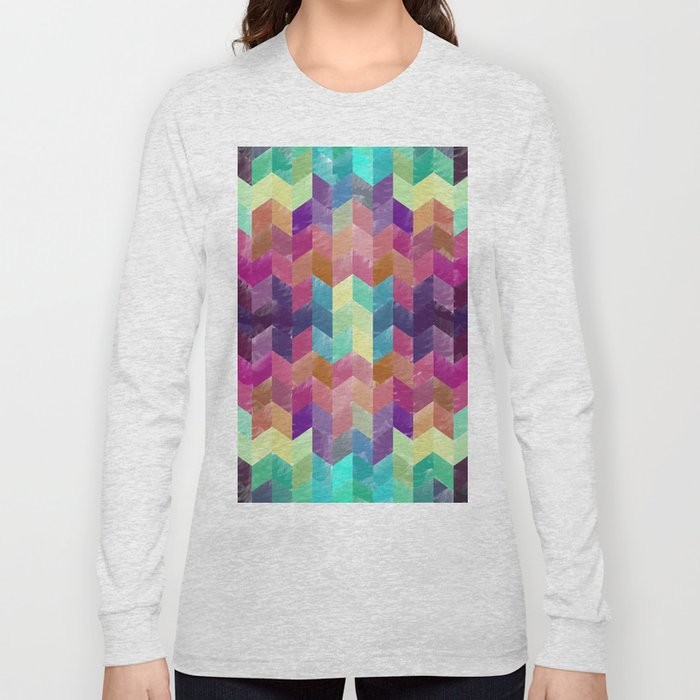 Crystal Geometric Background Long Sleeve T-shirt