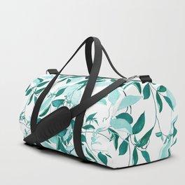 fresh green leaf pattern Duffle Bag
