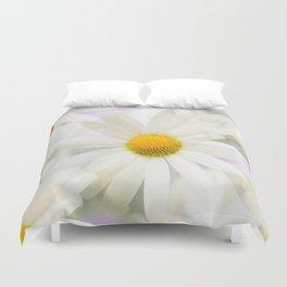 Daisy Flower Bouquet Pastel Color Background #decor #society6 #buyart Duvet Cover