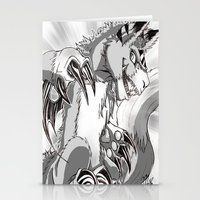 digimon Stationery Cards featuring + Digimon - Dorumon + by Xyeziaeos