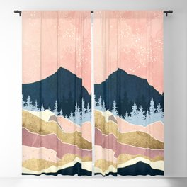 Coral Sunset Blackout Curtain