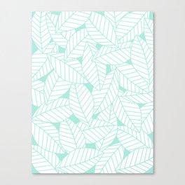 Leaves in Ocean Canvas Print