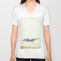 surfboard V-neck T-shirts featuring Surfboard by wowpeer