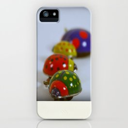 Vintage Lady Bird Family iPhone Case