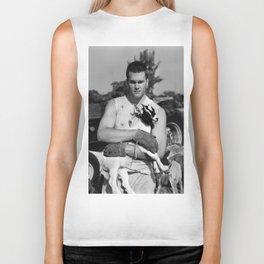 Tom Brady The Goat (B&W) Biker Tank